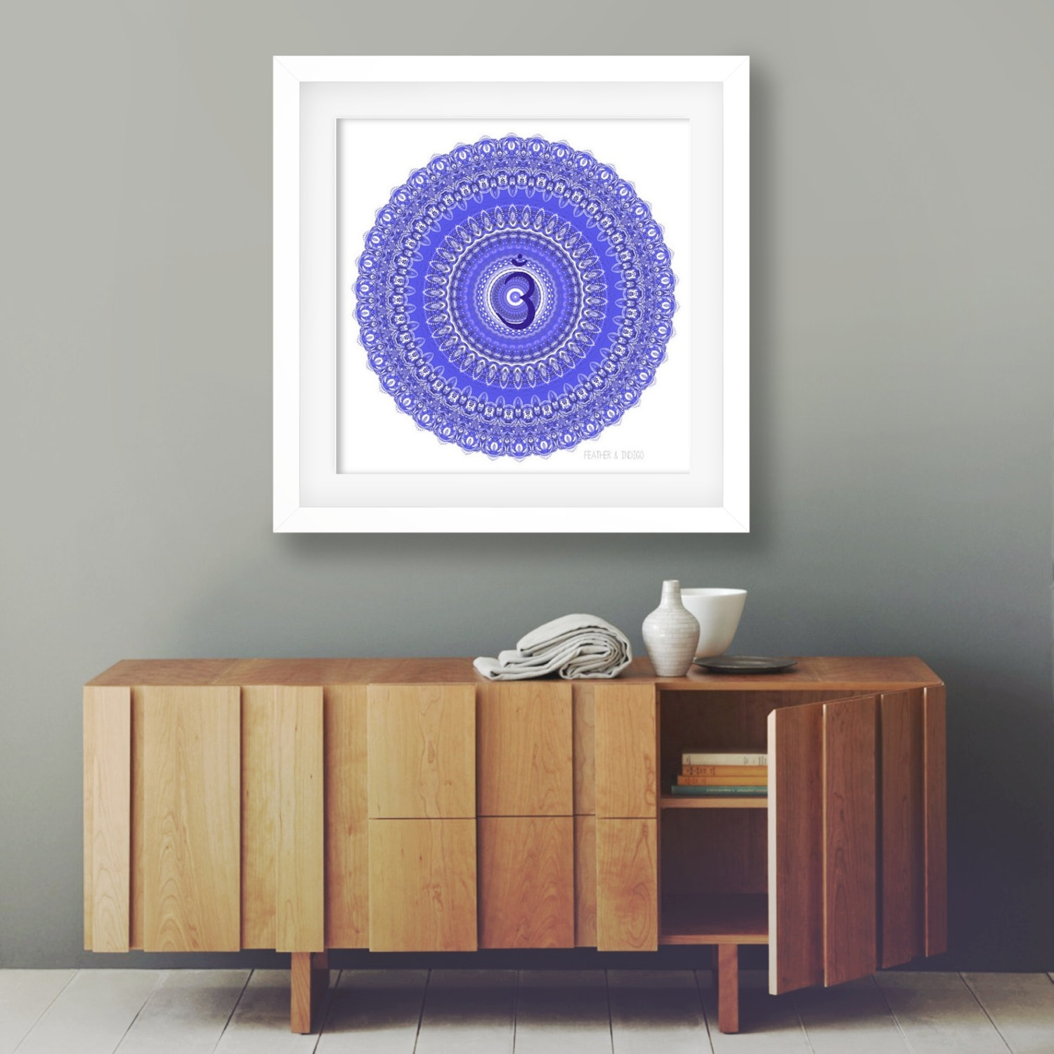 Popular Items For Mandala Wall Decor On Etsy Third Eye Chakra Art Pertaining To Most Current Etsy Wall Accents (Gallery 7 of 15)