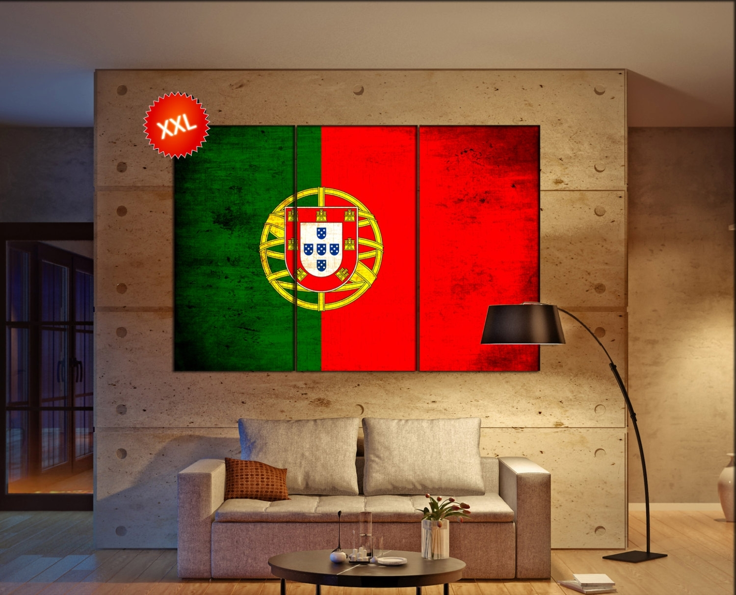Portugal Flag Canvas Wall Art Art Print Large Canvas Wall Art Pertaining To Current Large Canvas Wall Art (View 15 of 15)