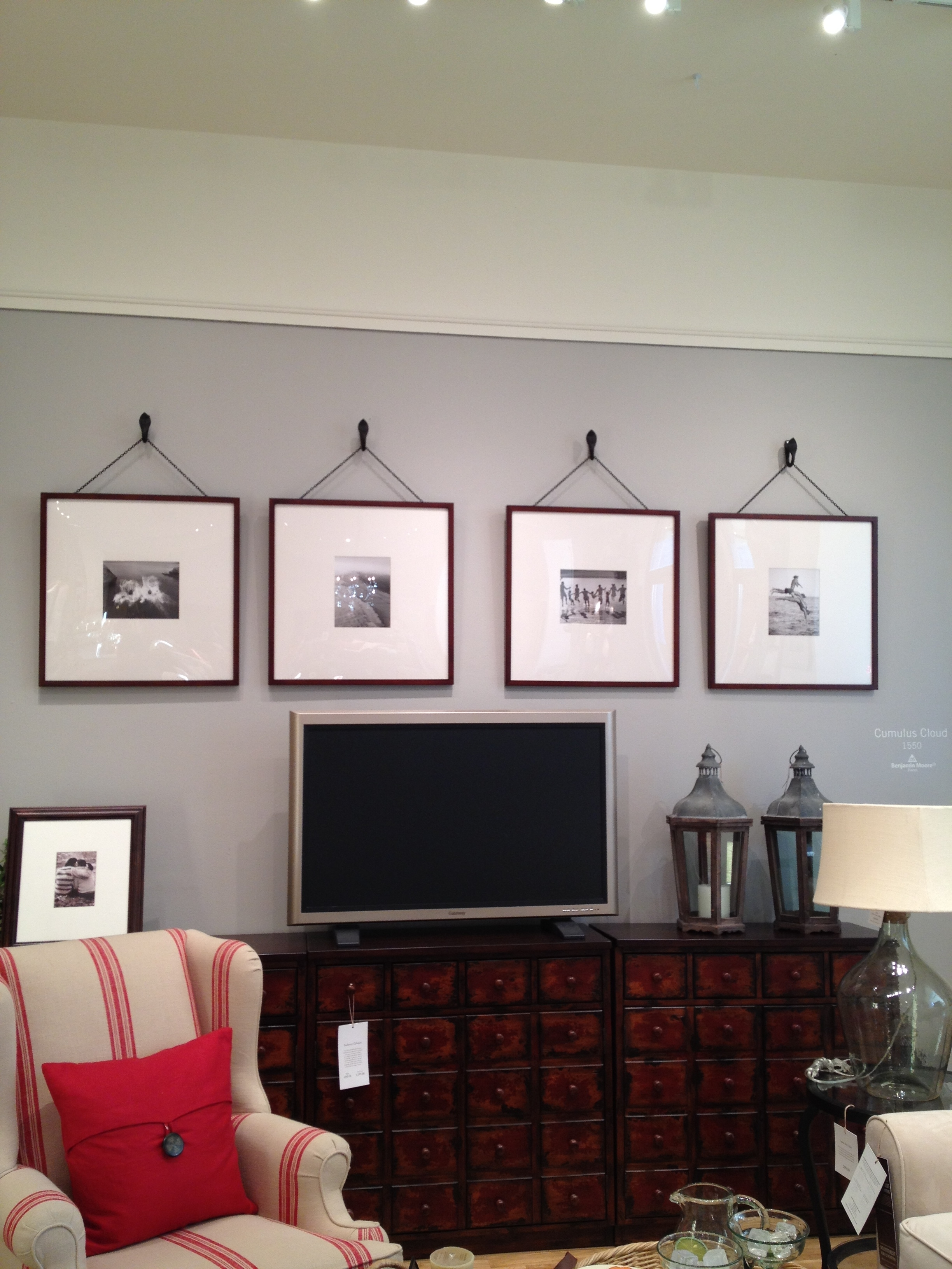 Pottery Barn Oversized Picture Frames Maybe Over The Tv In The Regarding 2017 Wall Accents Behind Tv (View 12 of 15)