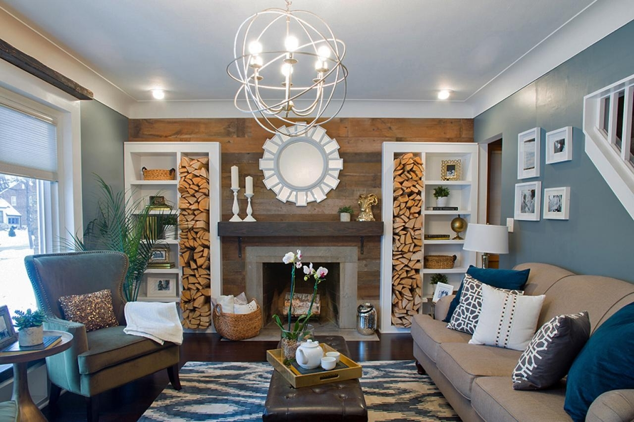 Pretty Firewood Storage Ideas | Diy Network Blog: Made + Remade | Diy With Newest Wall Accents For Blue Room (View 11 of 15)
