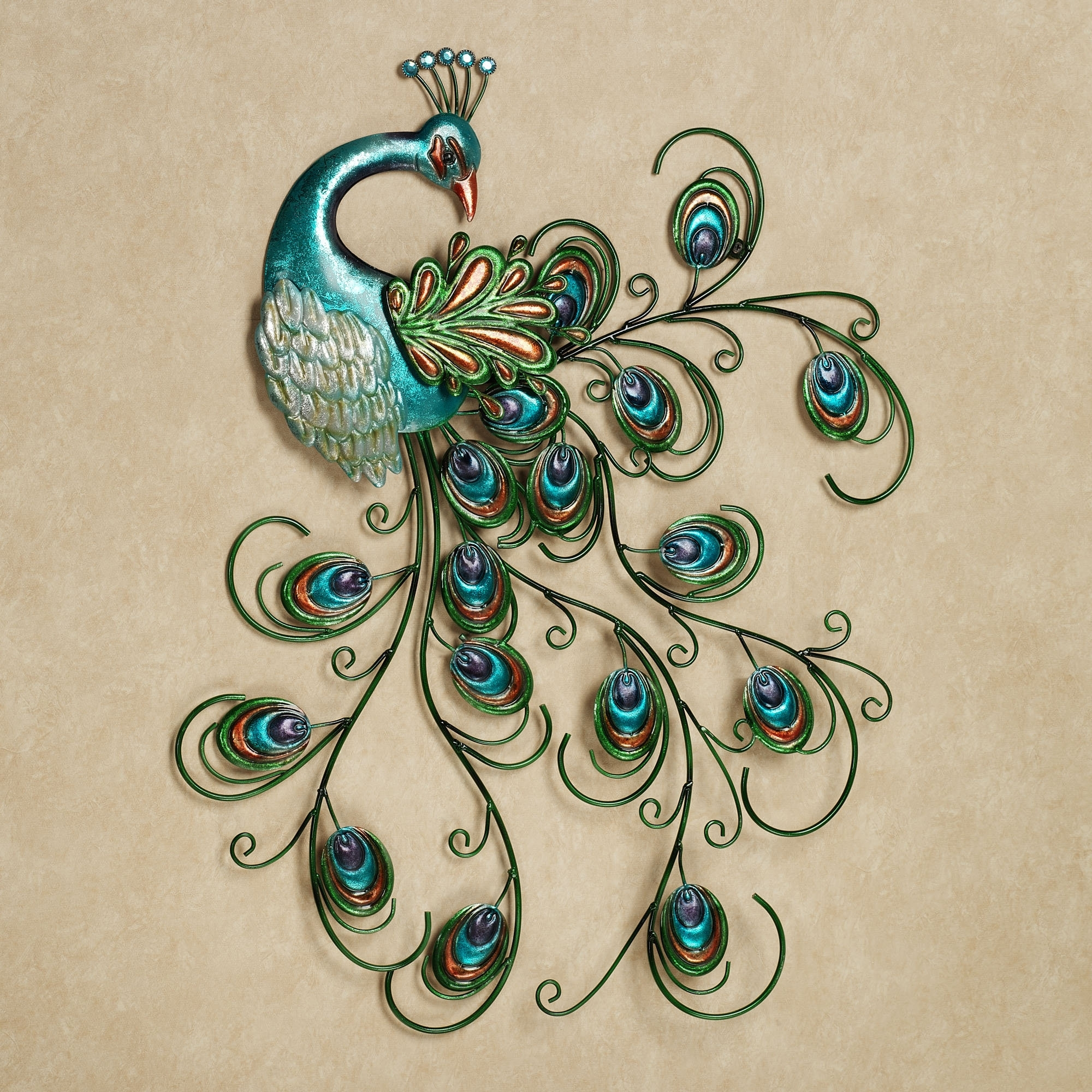 Pretty Peacock Indoor Outdoor Metal Wall Art | Outdoor Metal Wall Within Current Canvas Wall Art Pairs (View 14 of 15)
