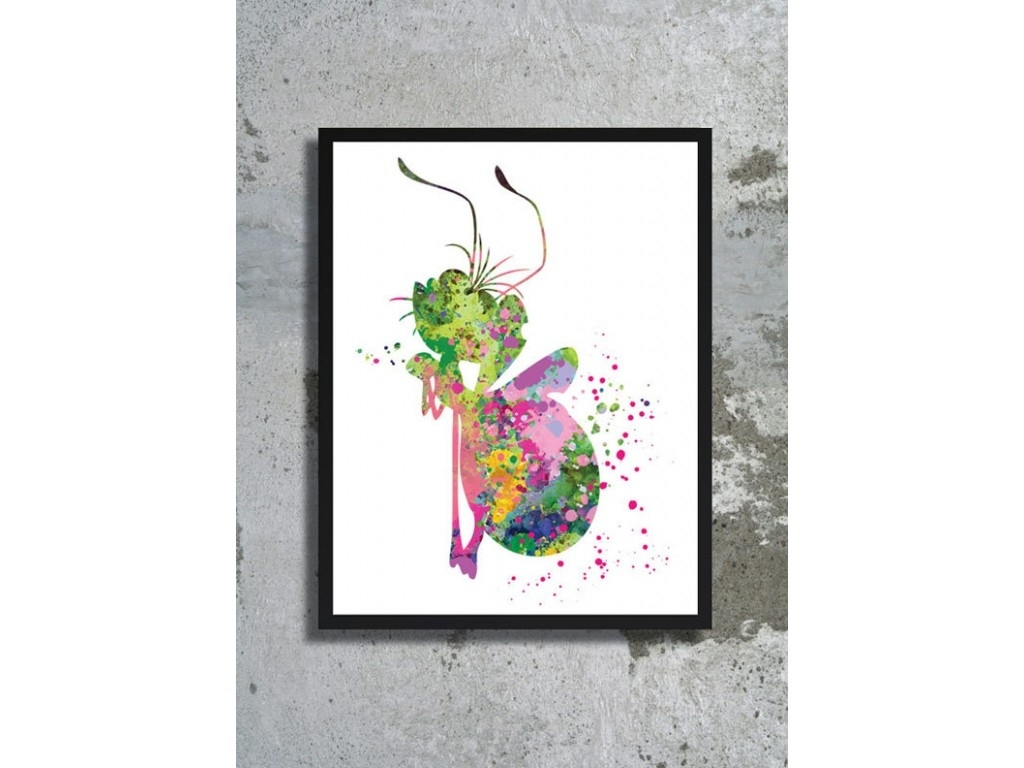 Princess And The Frog Watercolor Print Ray The Firefly Print With Latest Disney Framed Art Prints (View 9 of 15)