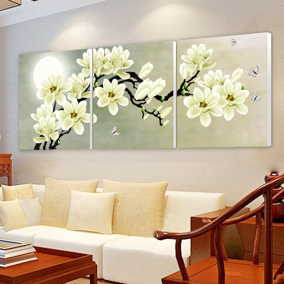 Print Poster Canvas Wall Art Orchids Decoration Art Oil Painting Throughout Most Current Orchid Canvas Wall Art (View 10 of 15)