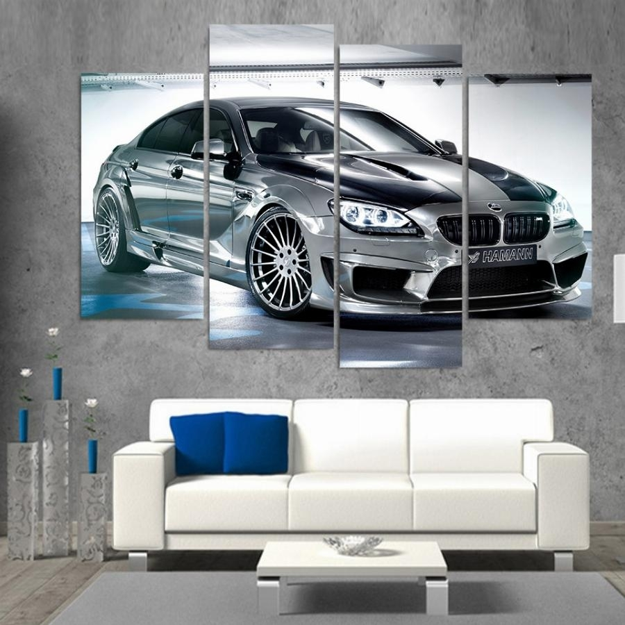 Printed Bmw Gran Coupe Car Picture Painting Wall Art Room Decor In 2018 Bmw Canvas Wall Art (View 1 of 15)
