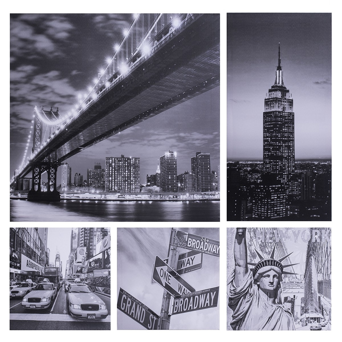 Prints City Print (set Of 5) | Wall Art | Jysk Canada Throughout Current Jysk Canvas Wall Art (Gallery 4 of 15)