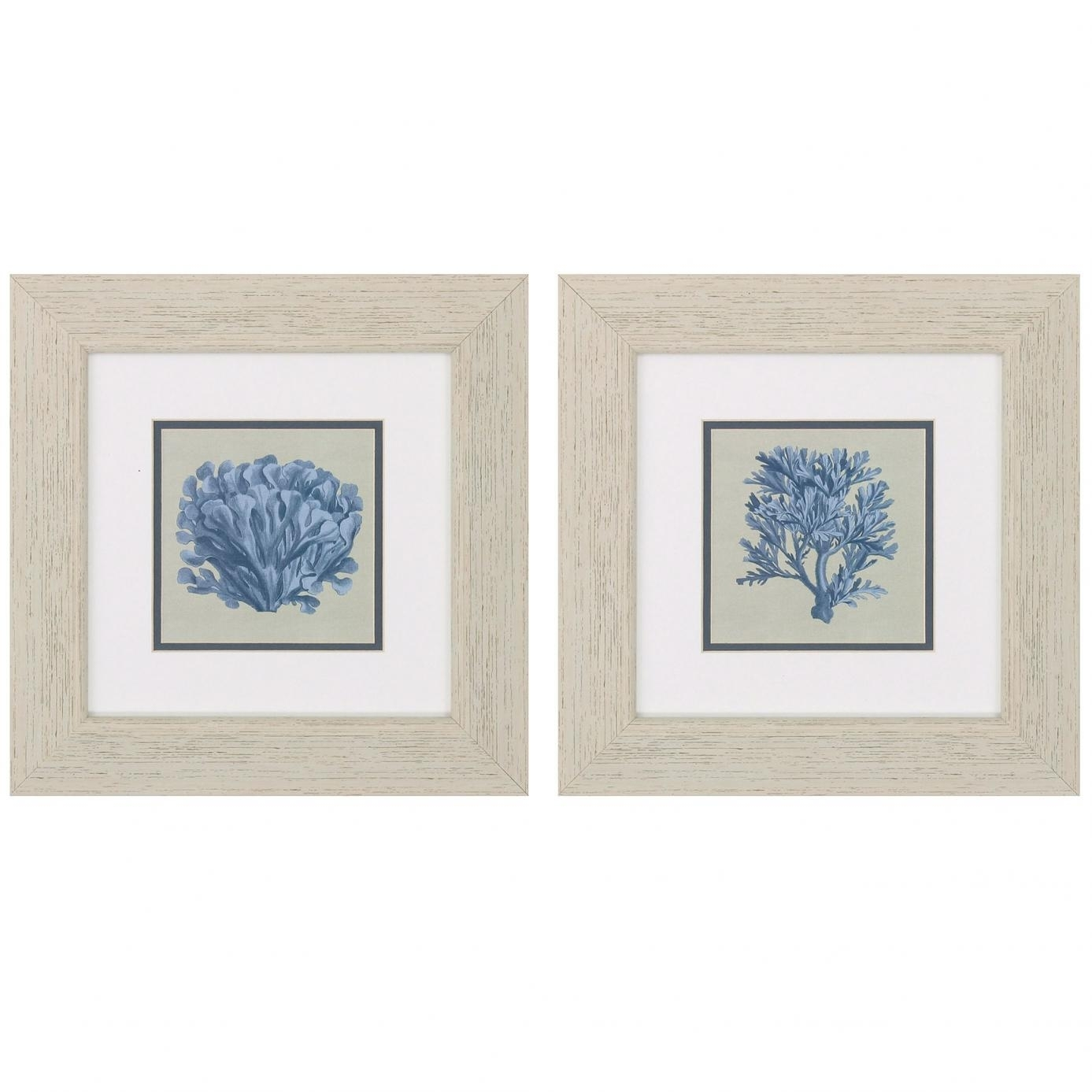 "Propac Chambray Coral Wall Art Set Of 2 | ""furniture Collection Inside Most Recently Released Framed Coral Art Prints (Gallery 8 of 15)"