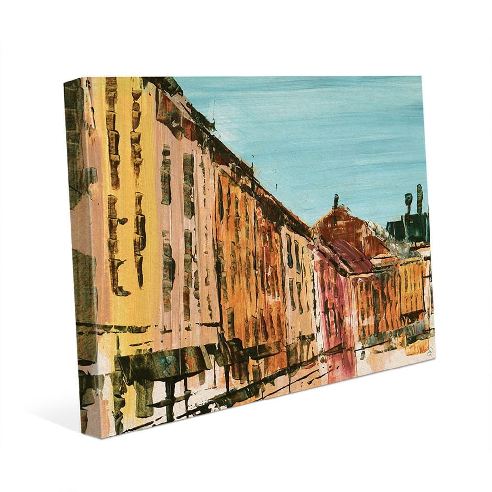 Quaint Streets Of Montreal Wall Art Canvas Print – Free Shipping With Latest Montreal Canvas Wall Art (View 15 of 15)