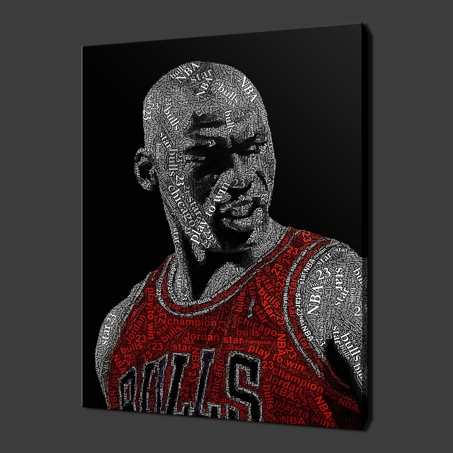 Quality Canvas Print Art With Regard To Most Recent Michael Jordan Canvas Wall Art (Gallery 3 of 15)