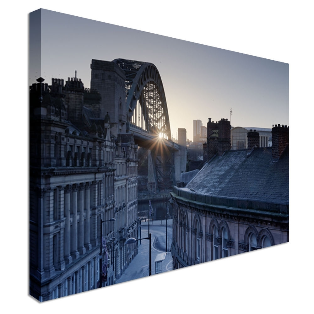 Quayside Newcastle Upon Tyne Art Print Pictures Canvas Wall Art In Latest Newcastle Canvas Wall Art (View 13 of 15)