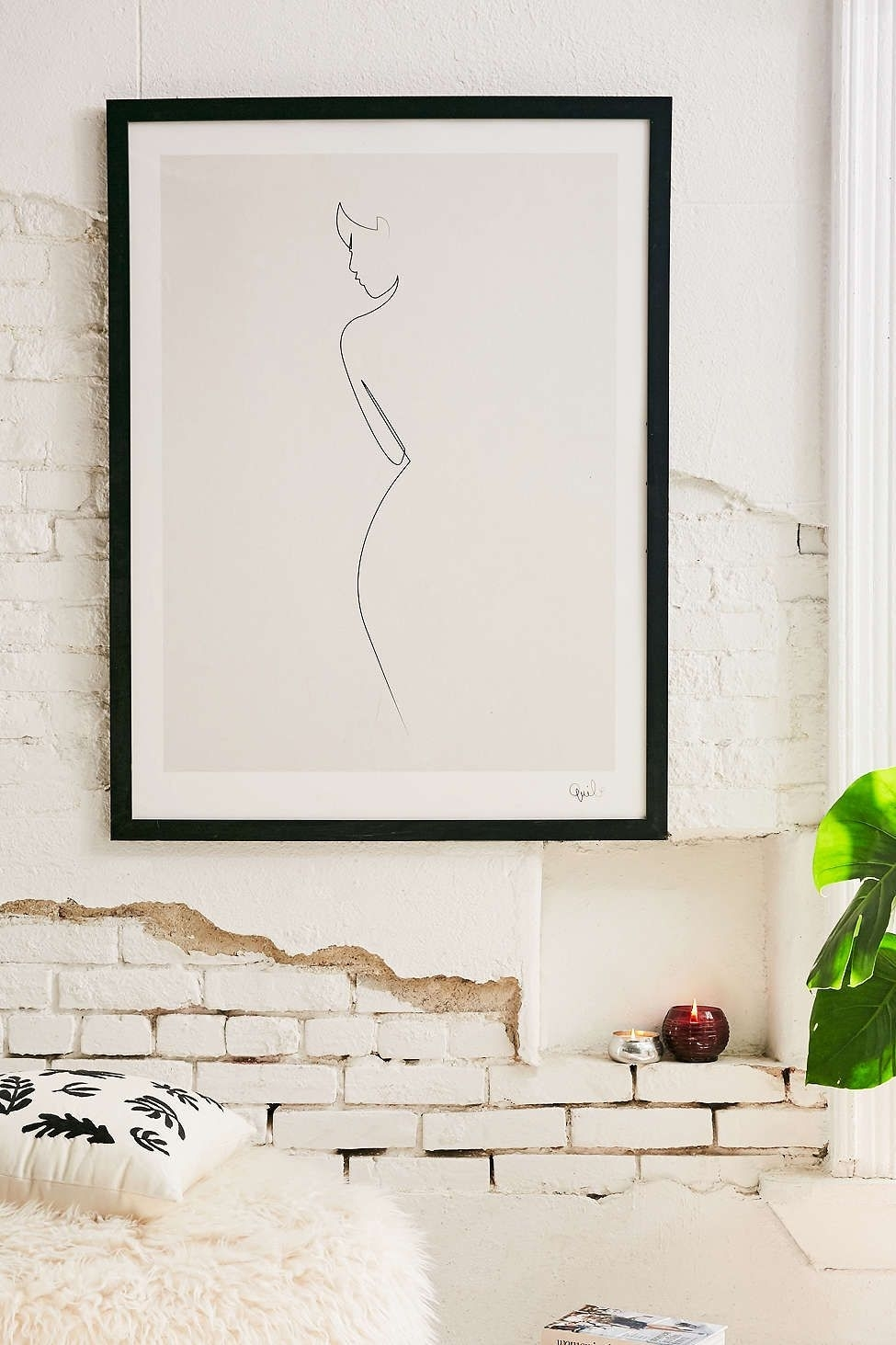 Quibe One Line Nude Art Print | Urban Outfitters, Nude And Urban Intended For 2017 Framed Art Prints For Bedroom (View 11 of 15)