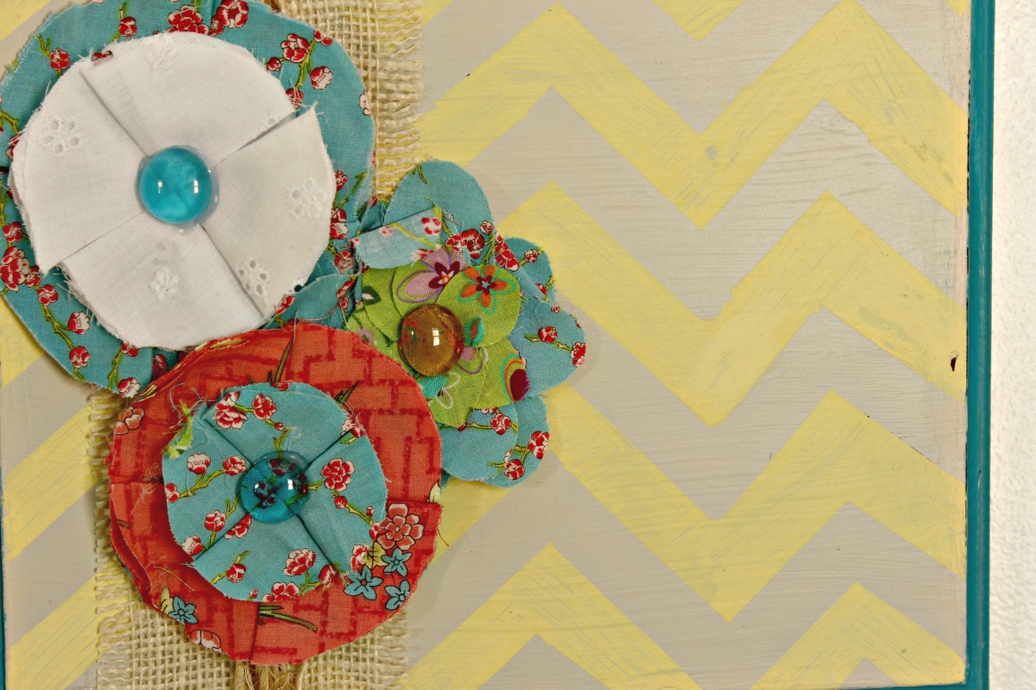 Image Gallery of Diy Fabric Flower Wall Art (View 13 of 15 Photos)