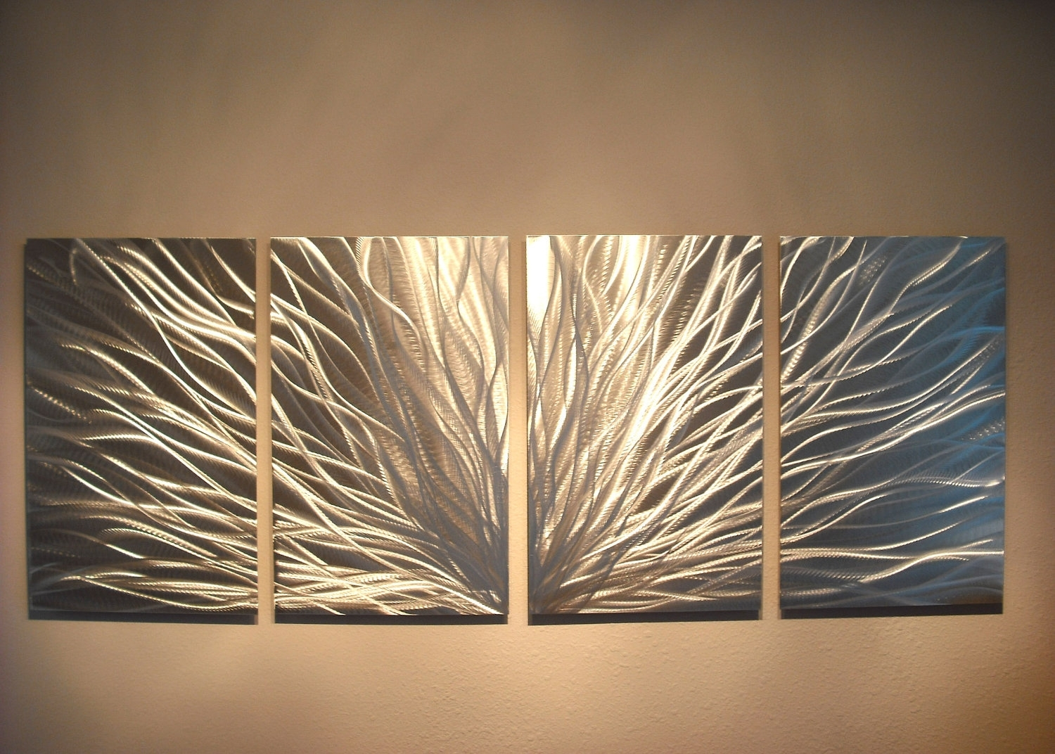 Radiance – Abstract Metal Wall Art Contemporary Modern Decor In Most Current Large Modern Fabric Wall Art (View 12 of 15)