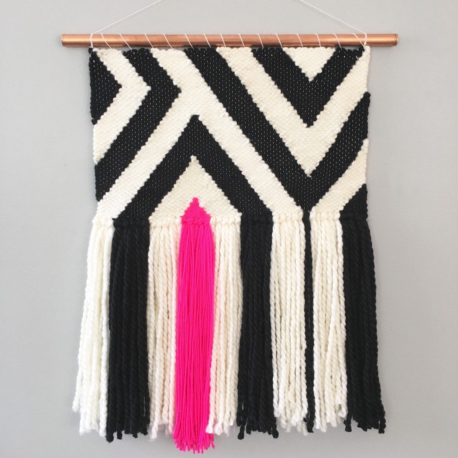 Ready To Ship Handmade Woven Wall Hanging Tapestry Weaving Wall Intended For Most Recent Handmade Textile Wall Art (View 11 of 15)