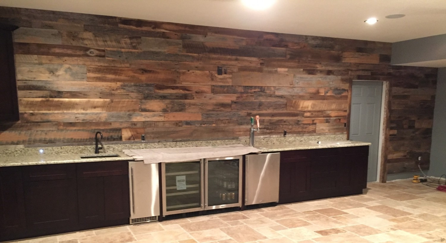 Reclaimed Wood Accent Wall — Cookwithalocal Home And Space Decor With Latest Reclaimed Wood Wall Accents (View 6 of 15)