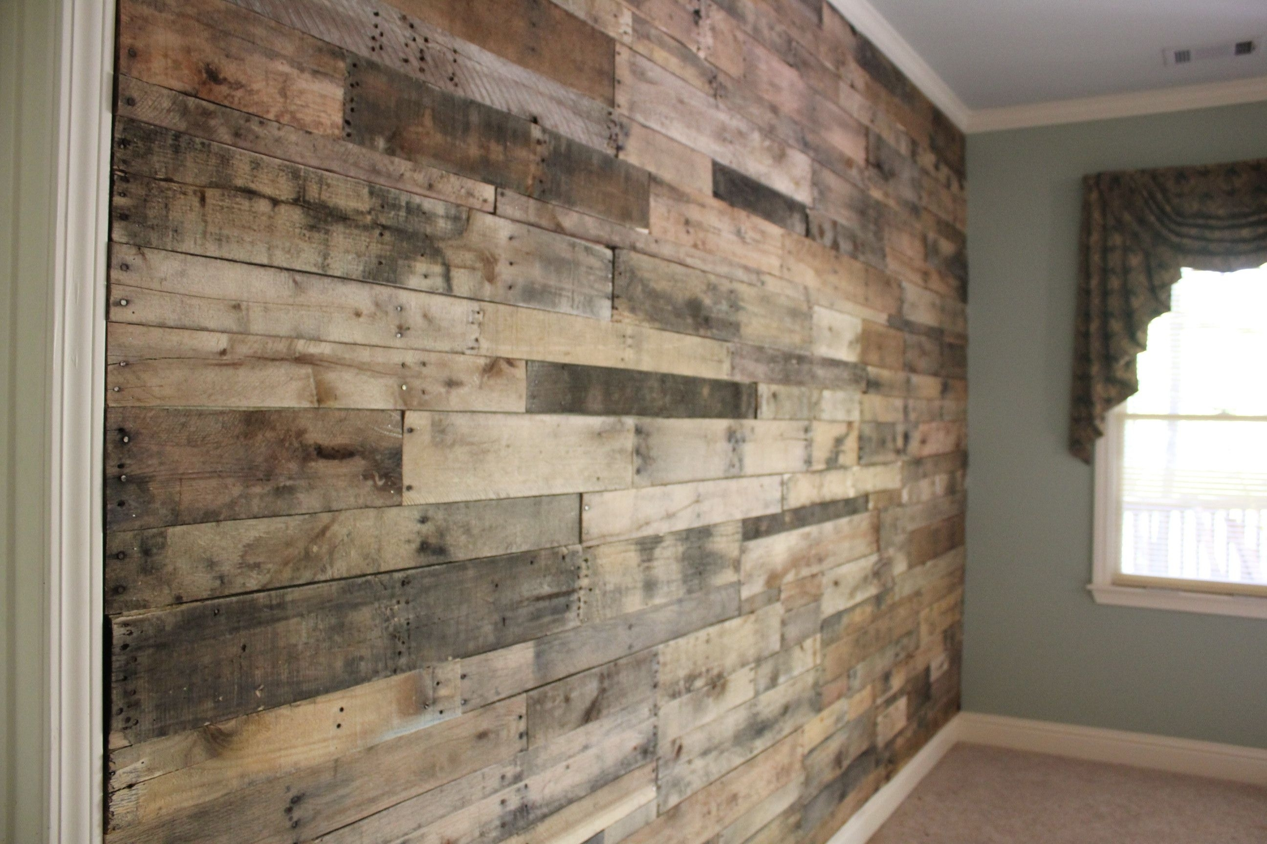 Reclaimed Wood Wall – Google Search | Interior Inspiration Throughout 2017 Wall Accents With Pallets (View 12 of 15)