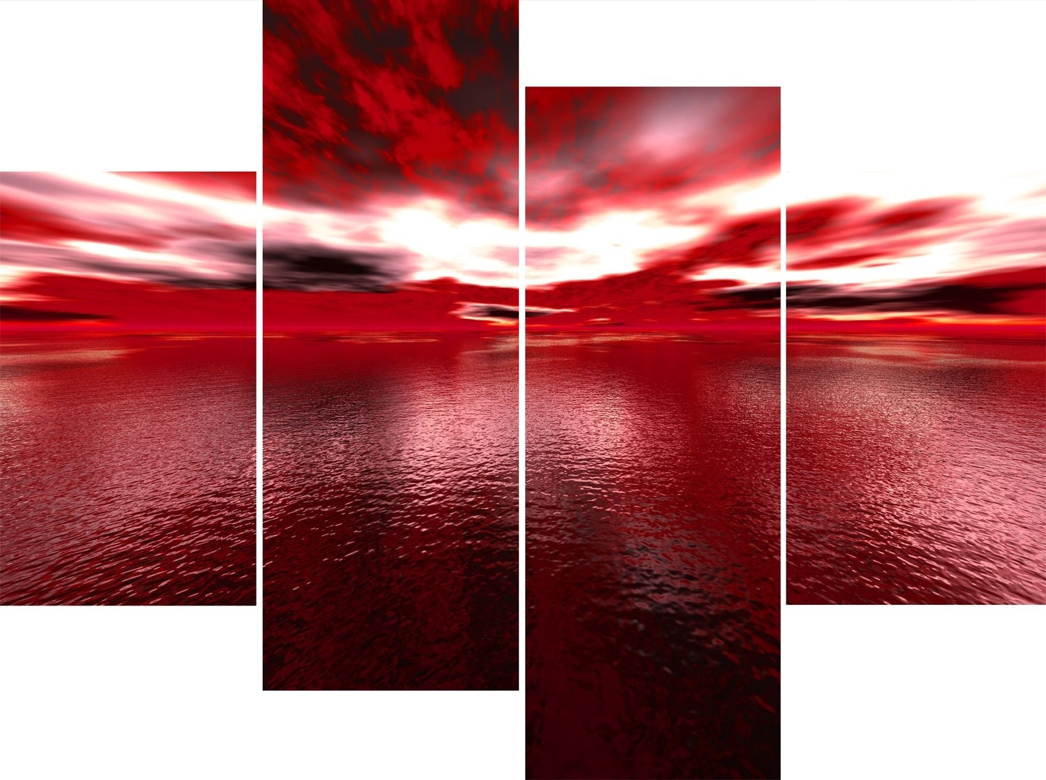 Featured Photo of Large Red Canvas Wall Art