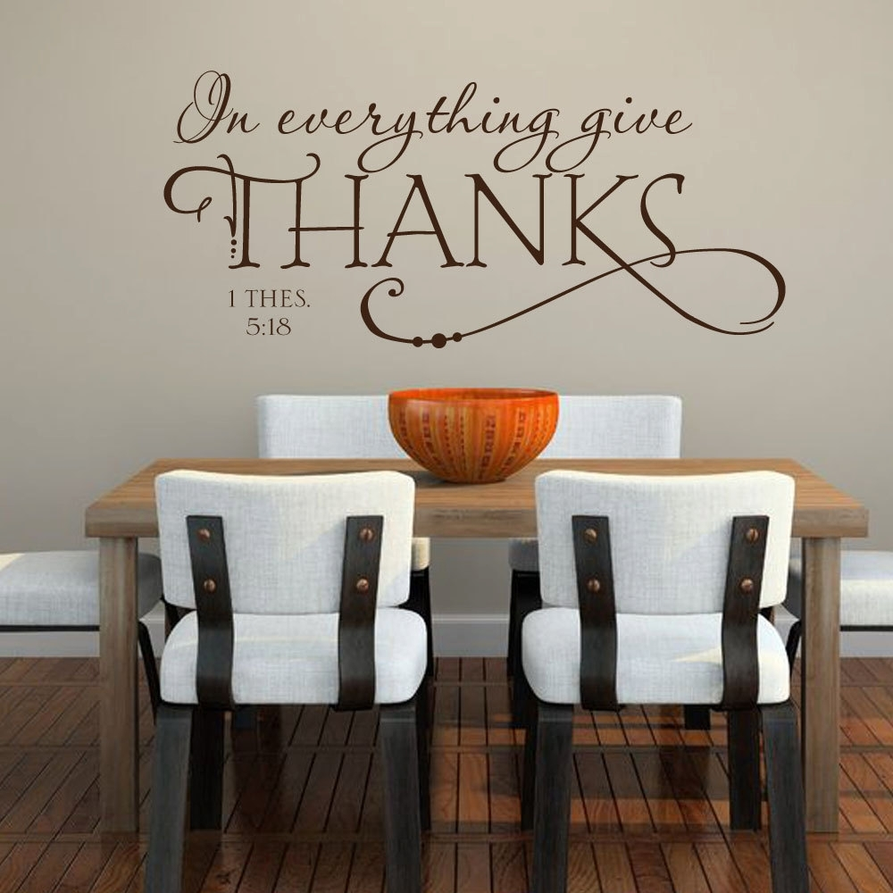 Religious Kitchen Bible Quote – Removable Vinyl Wall Decals – 10.5 Intended For 2017 Removable Wall Accents (Gallery 13 of 15)