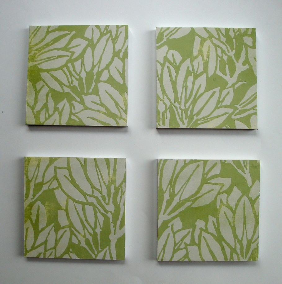 Remarkable Leaf On Green Background On Square Frame Under White Pertaining To Most Recently Released Leaves Canvas Wall Art (View 6 of 15)
