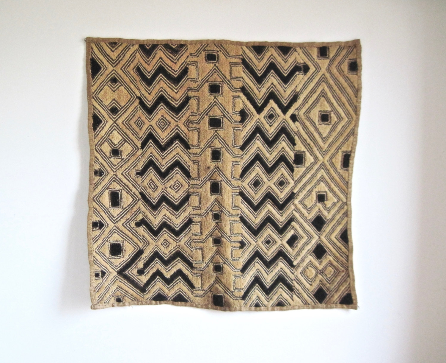 Reserved – Vintage Akwete Cloth, African Textile Art, Geometric With Recent Vintage Textile Wall Art (View 8 of 15)