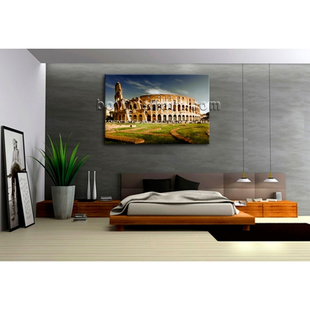 Rome Colosseum Large Landscape Picture Canvas Wall Art Print World With Regard To Most Recently Released Canvas Wall Art Of Rome (Gallery 6 of 15)