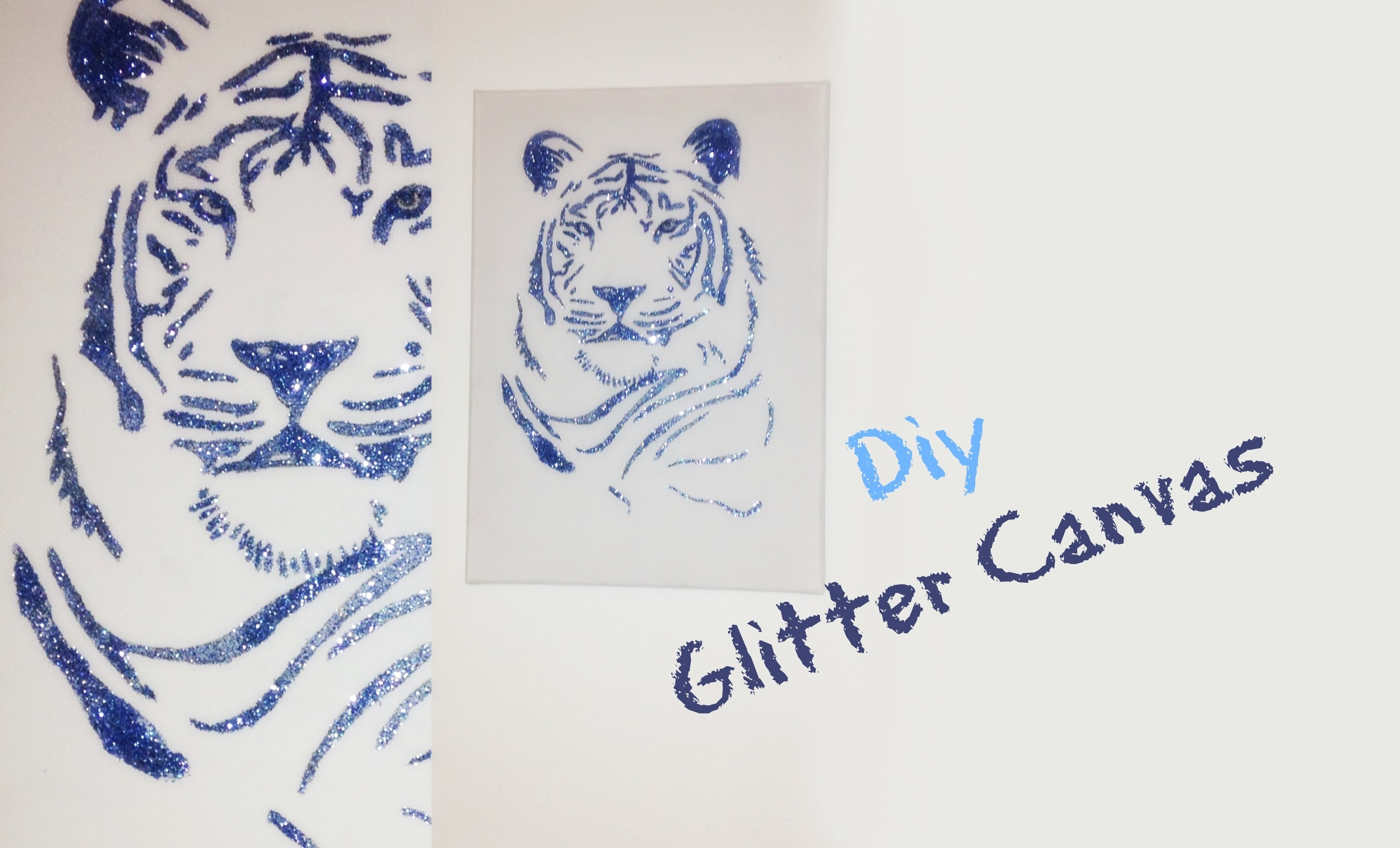 Room Decor Diy: Glitter Canvas Wall Art [italian] – Youtube Intended For Newest Glitter Canvas Wall Art (View 10 of 15)
