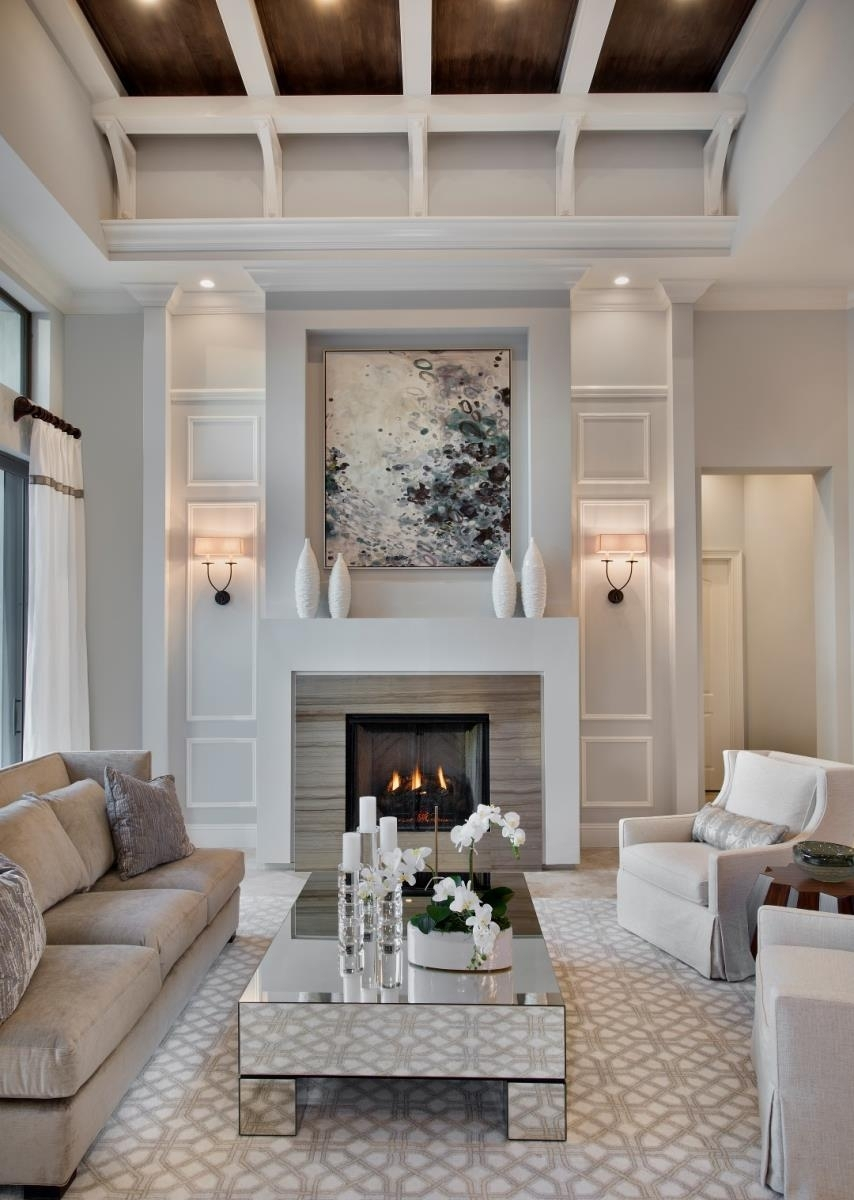 Room Decor Ideas Design Living Fireplace Decorating Layouts With Regarding Most Popular Wall Accents For Narrow Room (Gallery 5 of 15)