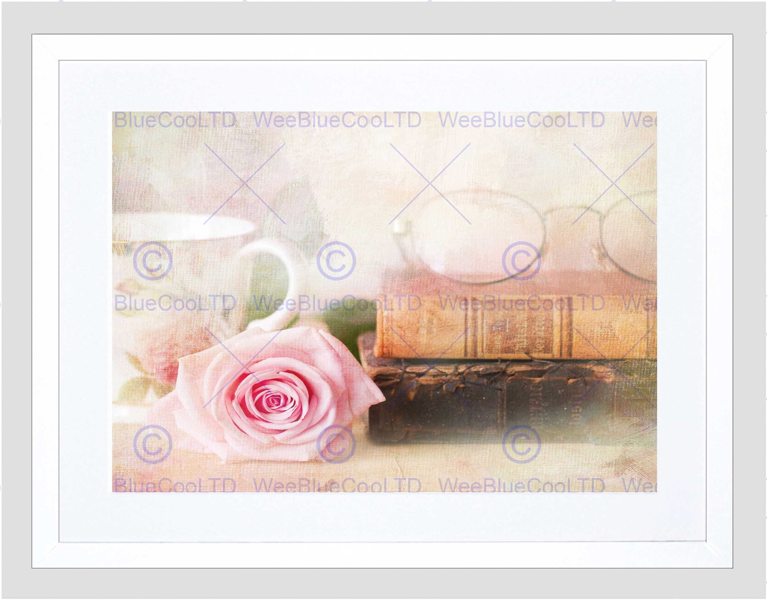 Rose Vintage Book Shabby Chic Black Frame Framed Art Print Picture Within Most Up To Date Shabby Chic Framed Art Prints (Gallery 8 of 15)