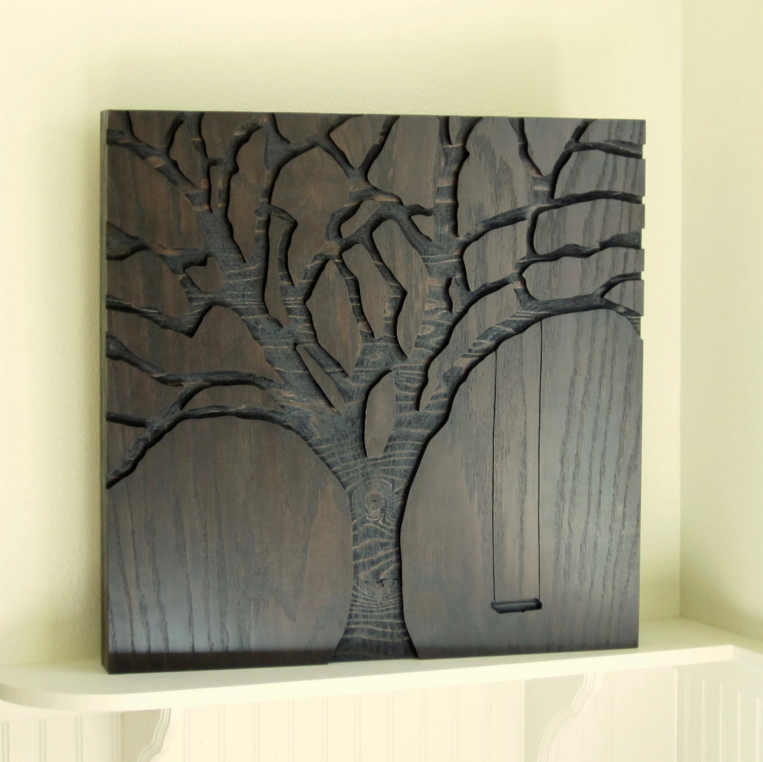 """Rustic Wall Art, Abstract Nature, Modern Wall Art – 23""""x23 For Most Up To Date Rustic Fabric Wall Art (View 5 of 15)"""
