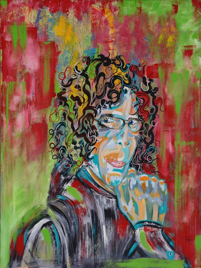 Saatchi Art: Howard Stern Paintingheather Wilkerson With Recent Howard Stern Canvas Wall Art (View 15 of 15)