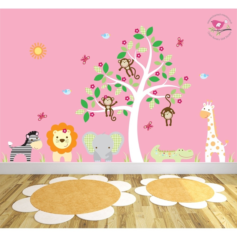 Safari Fabric Nursery Wall Stickers Within 2017 Fabric Tree Wall Art (View 11 of 15)