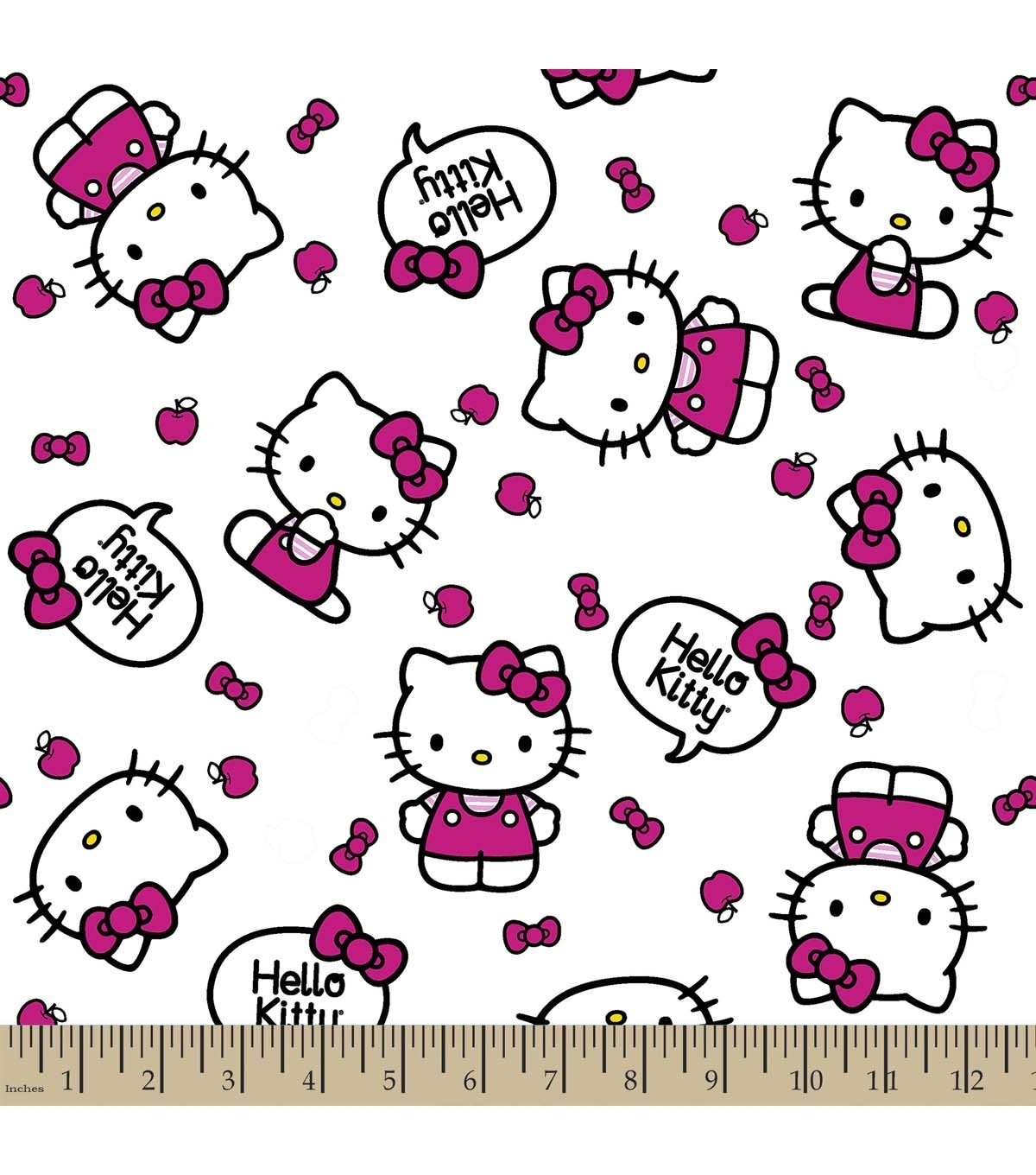 Sanrio Hello Kitty Print Fabric Quote | Joann Inside Most Recently Released Hello Kitty Canvas Wall Art (Gallery 12 of 15)