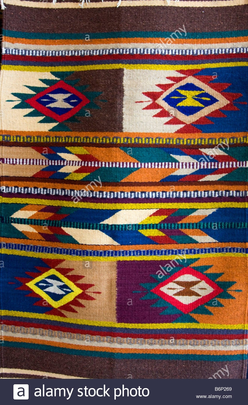 Santa Ana Del Valle, Oaxaca, Mexico. Traditional Geometric Symbols Pertaining To Most Up To Date Geometric Fabric Wall Art (Gallery 13 of 15)