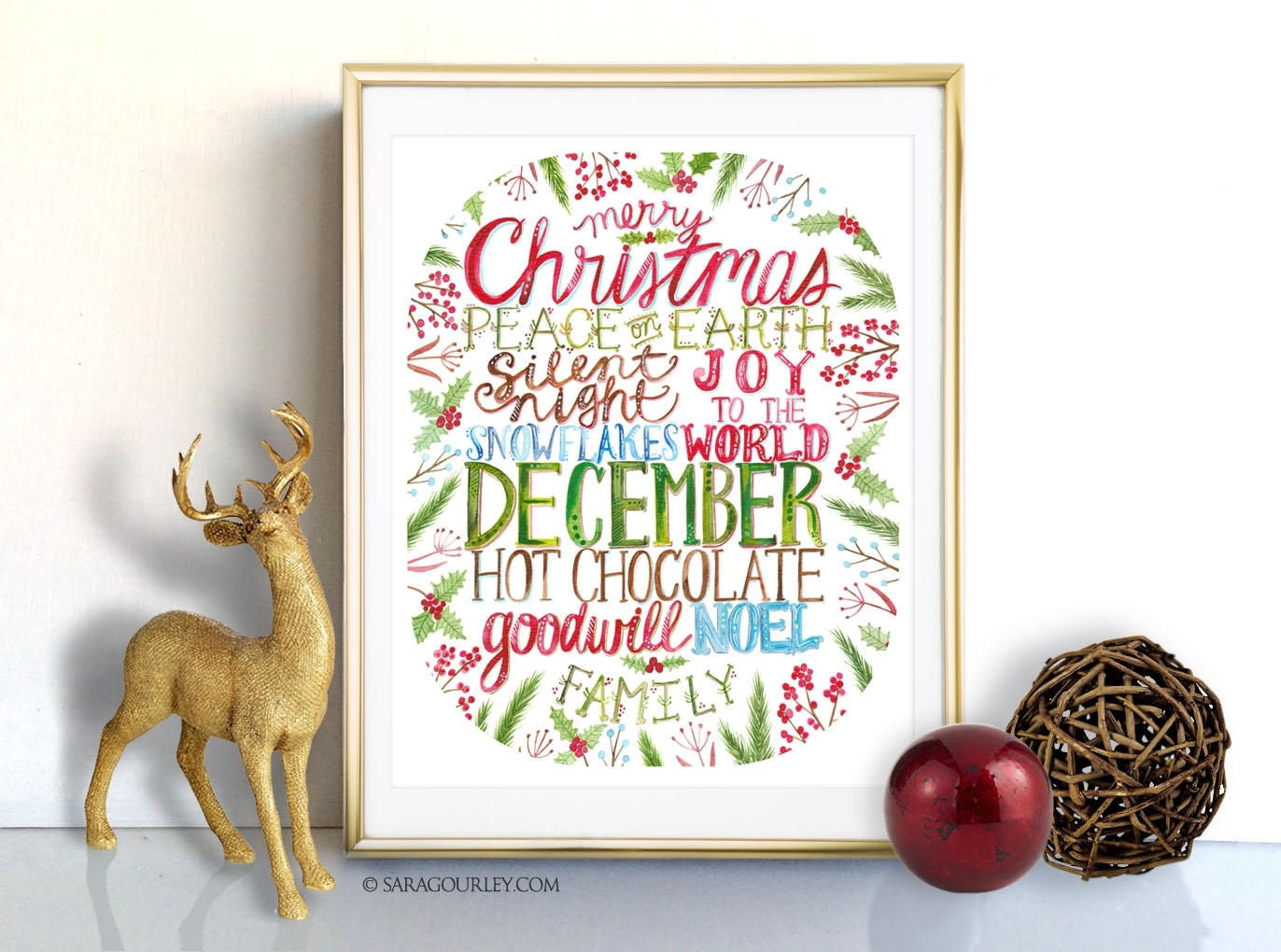 Sara Gourley | Fine Art & Digital Designs Pertaining To Most Popular Christmas Framed Art Prints (View 15 of 15)