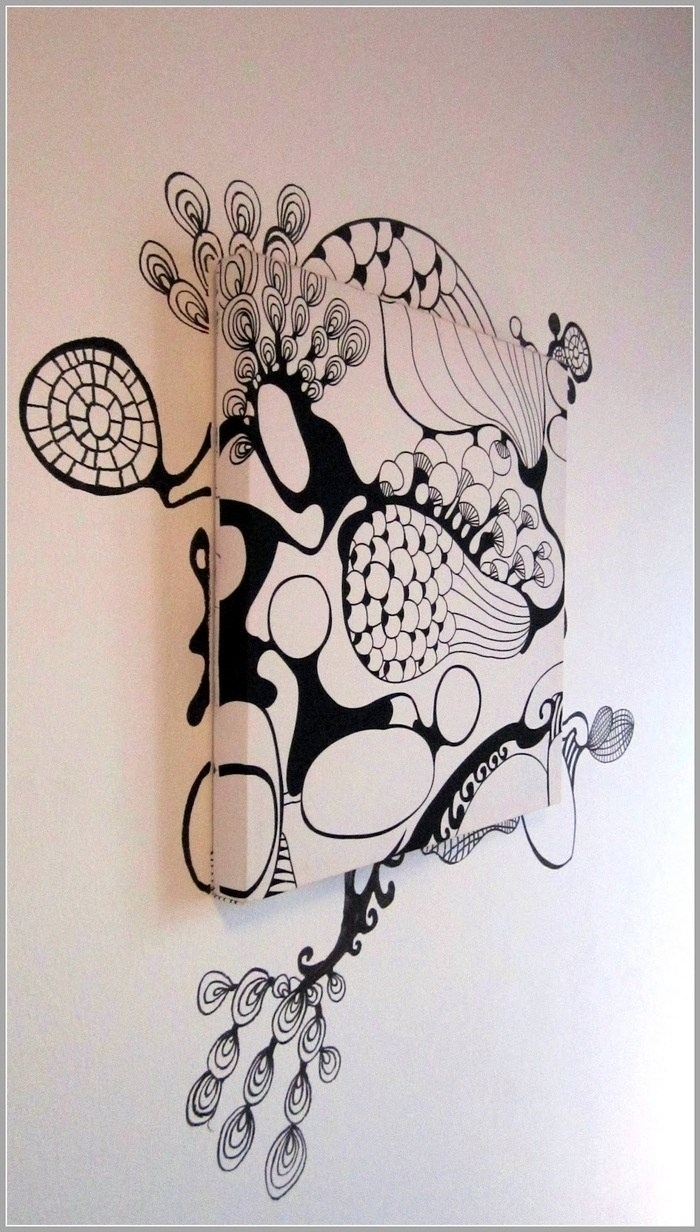 Saralisa Fabric And Graffiti Fusion As Wall Decor – Ikea Hackers Within 2017 Ikea Fabric Wall Art (View 11 of 15)