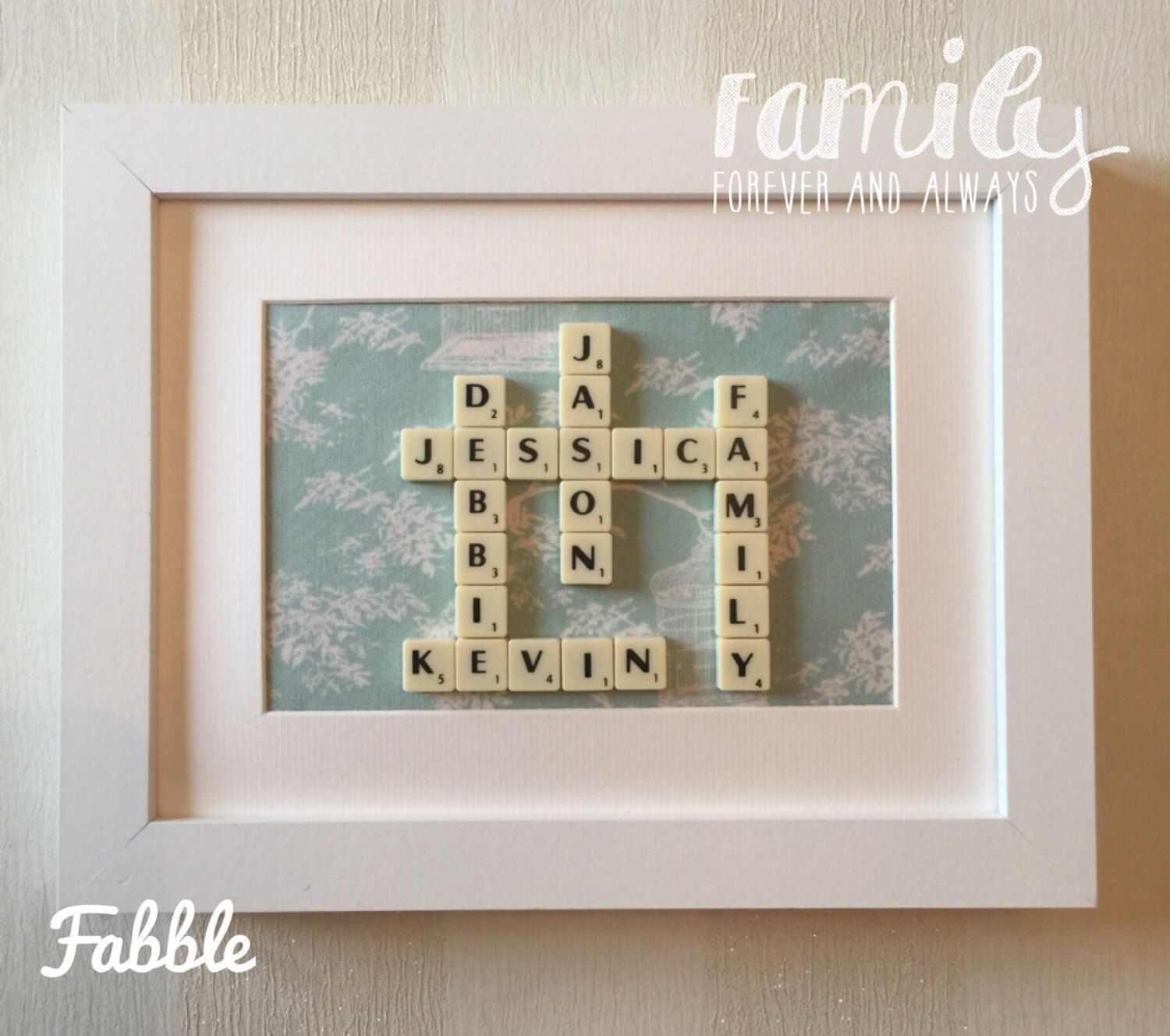 Scrabble Tile Wall Decor – Scrabble Tile Wall Decor Gift For Latest Personalized Fabric Wall Art (View 4 of 15)