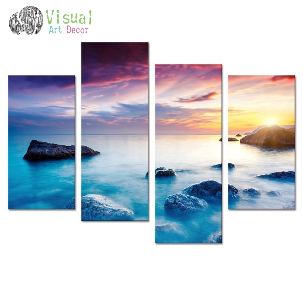 Seascape Canvas Wall Art Rock Sea Pictures Canvas Prints Wall Art With Most Recently Released Ocean Canvas Wall Art (View 2 of 15)