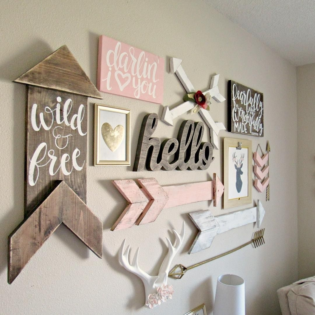 See This Instagram Photo@atwoodave • 101 Likes | Taylor's Room In Newest Girl Nursery Wall Accents (Gallery 1 of 15)
