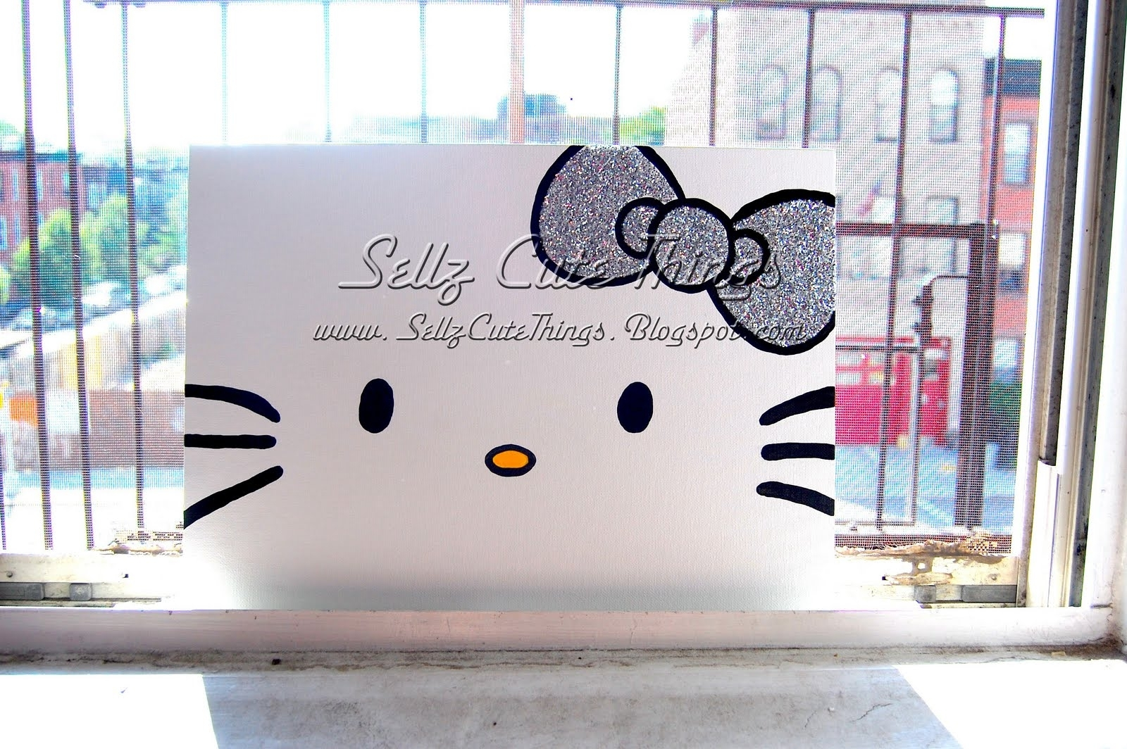 Sellzcutethings: Hello Kitty Acrylic Painting On Canvas Intended For 2018 Hello Kitty Canvas Wall Art (Gallery 1 of 15)