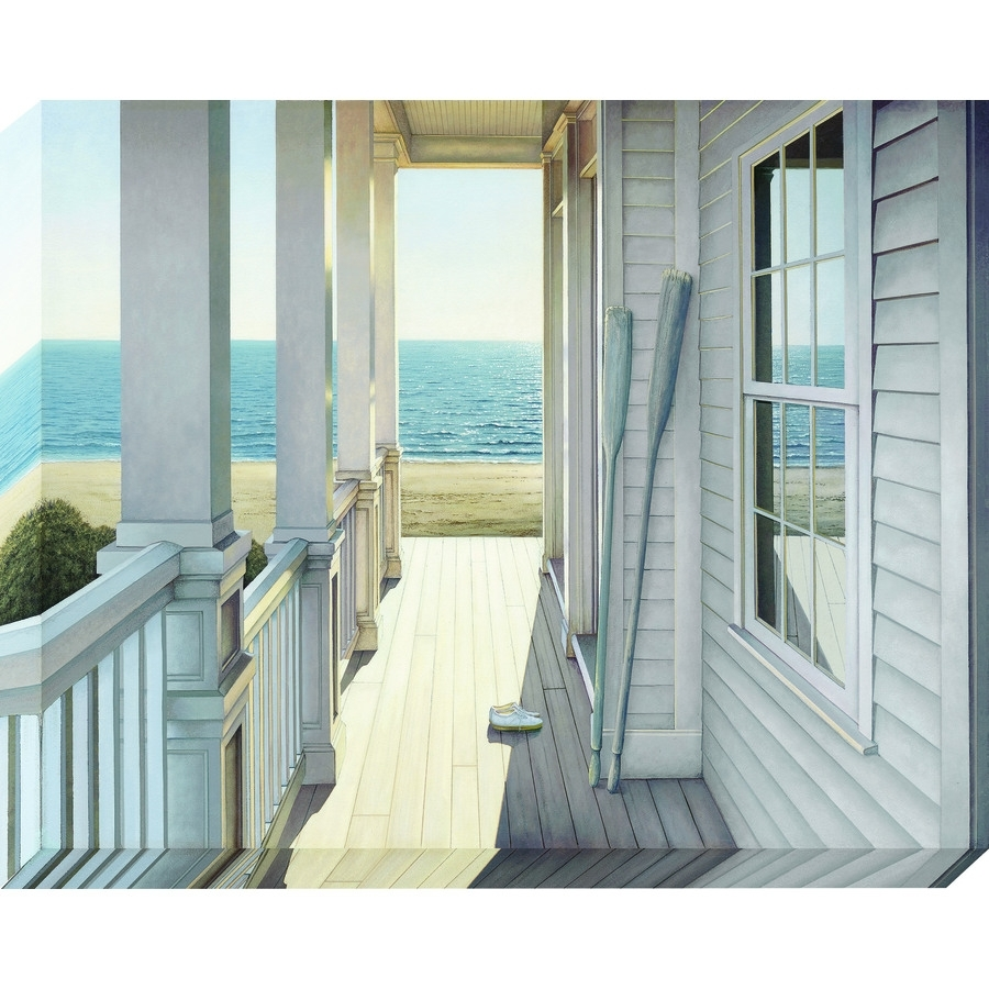 Shop 38 In W X 30 In H Frameless Coastal Canvas Print At Lowes In 2017 Lowes Canvas Wall Art (View 8 of 15)