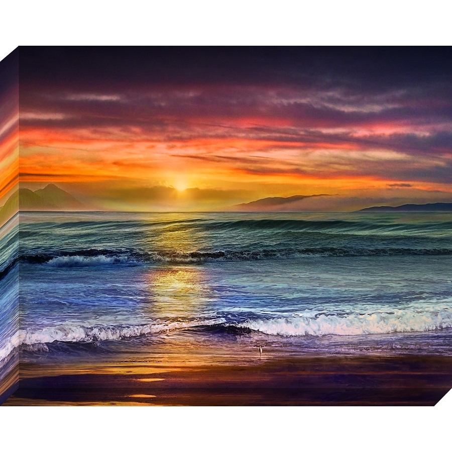 Shop 38 In W X 30 In H Frameless Coastal Canvas Print At Lowes Intended For Most Recently Released Lowes Canvas Wall Art (Gallery 6 of 15)