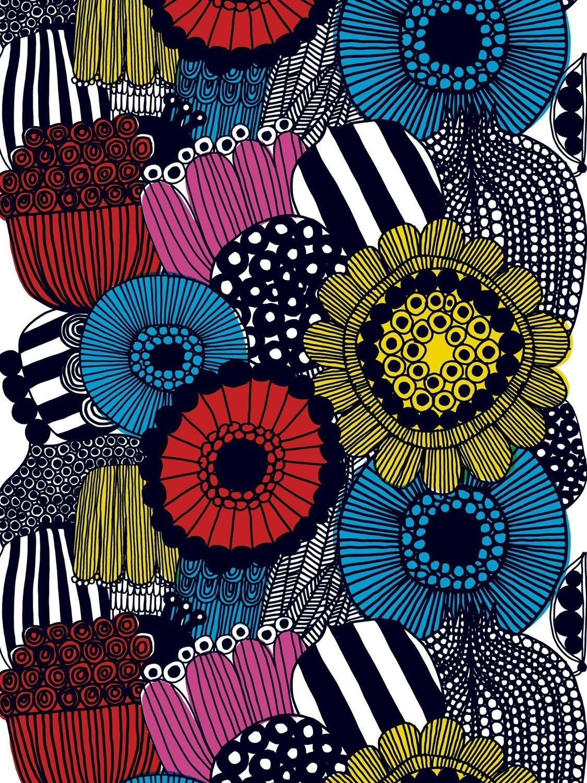 Siirtolapuutarha Designedmaija Louekari For Marimekko | Design In 2017 Marimekko 'karkuteilla' Fabric Wall Art (View 12 of 15)