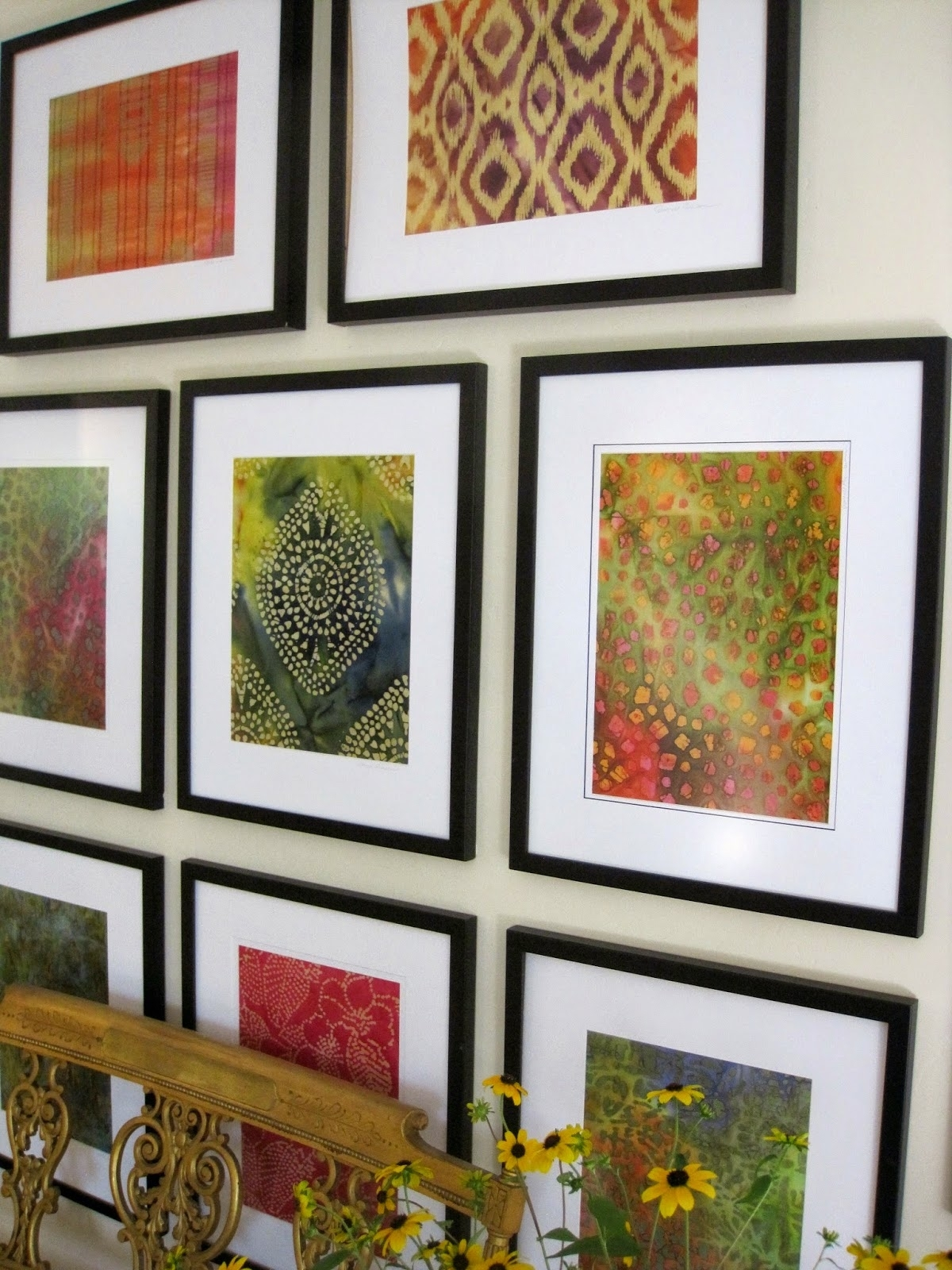 Simple Details: Diy Framed Batik Fabric Great Way To Get Cheap Within Most Up To Date Batik Fabric Wall Art (View 3 of 15)