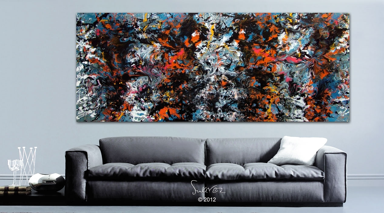 Skyfall Large Modern Art Painting | James Bond Inspired With Regard To Best And Newest James Bond Canvas Wall Art (View 3 of 15)