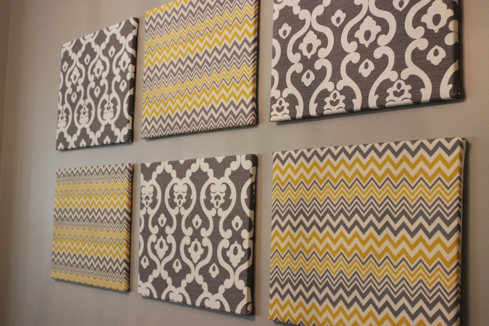 Sleek Diy Wall Conquers Painted Canvas A Pop Plus Home Decorating For 2018 Simple Fabric Wall Art (View 9 of 15)