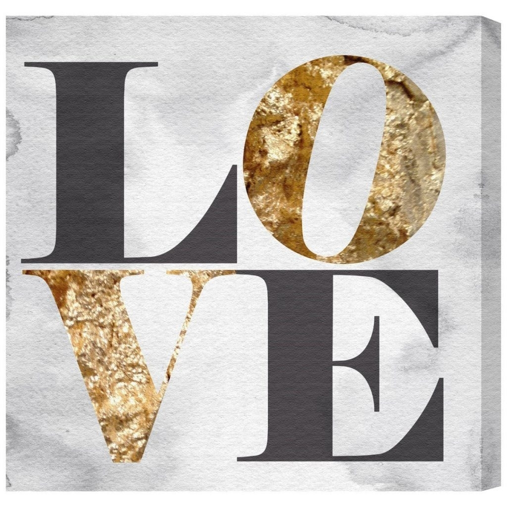 Smart Idea Love Canvas Wall Art Or Oliver Gal Build On Stone Birds Within Latest Love Canvas Wall Art (View 6 of 15)