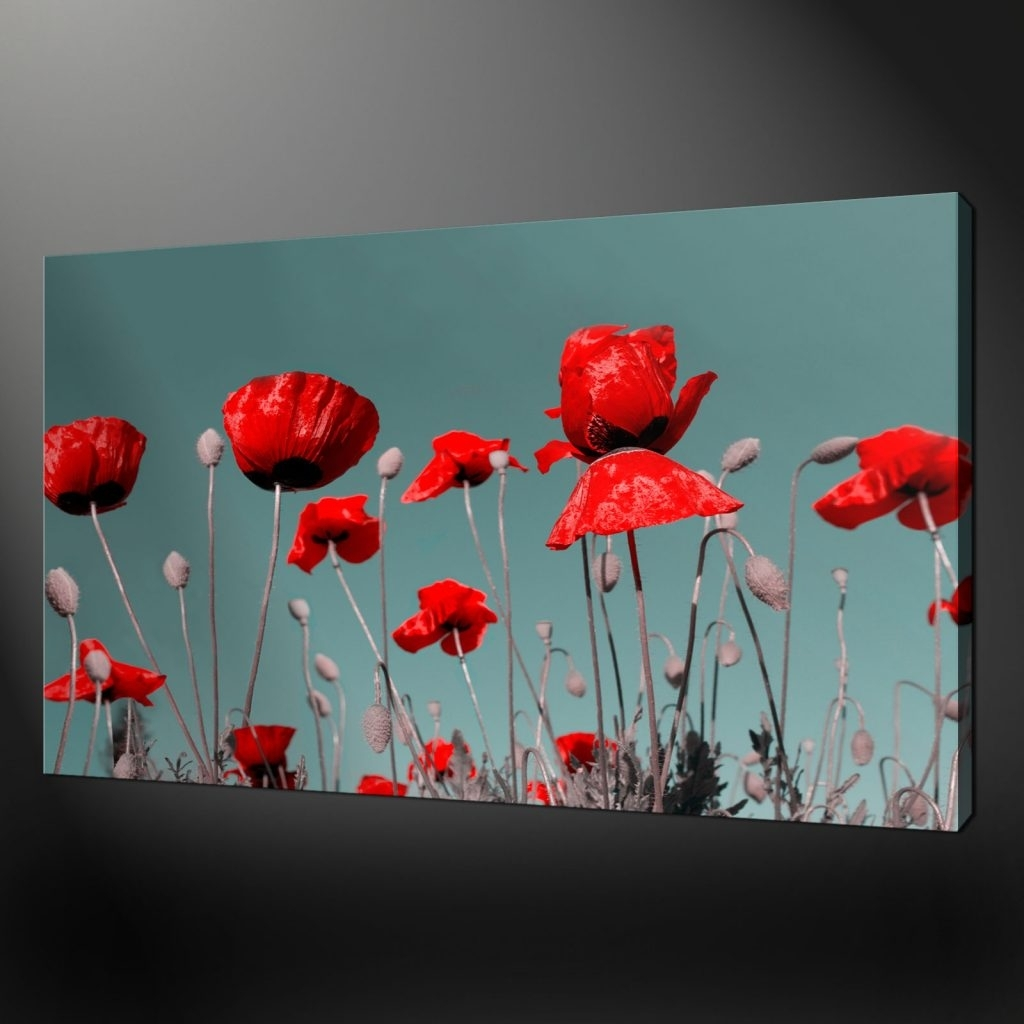 Smart Idea Poppies Wall Art Also 34 Bouquet Of Com Metal Canvas With Regard To Most Current Poppies Canvas Wall Art (View 9 of 15)