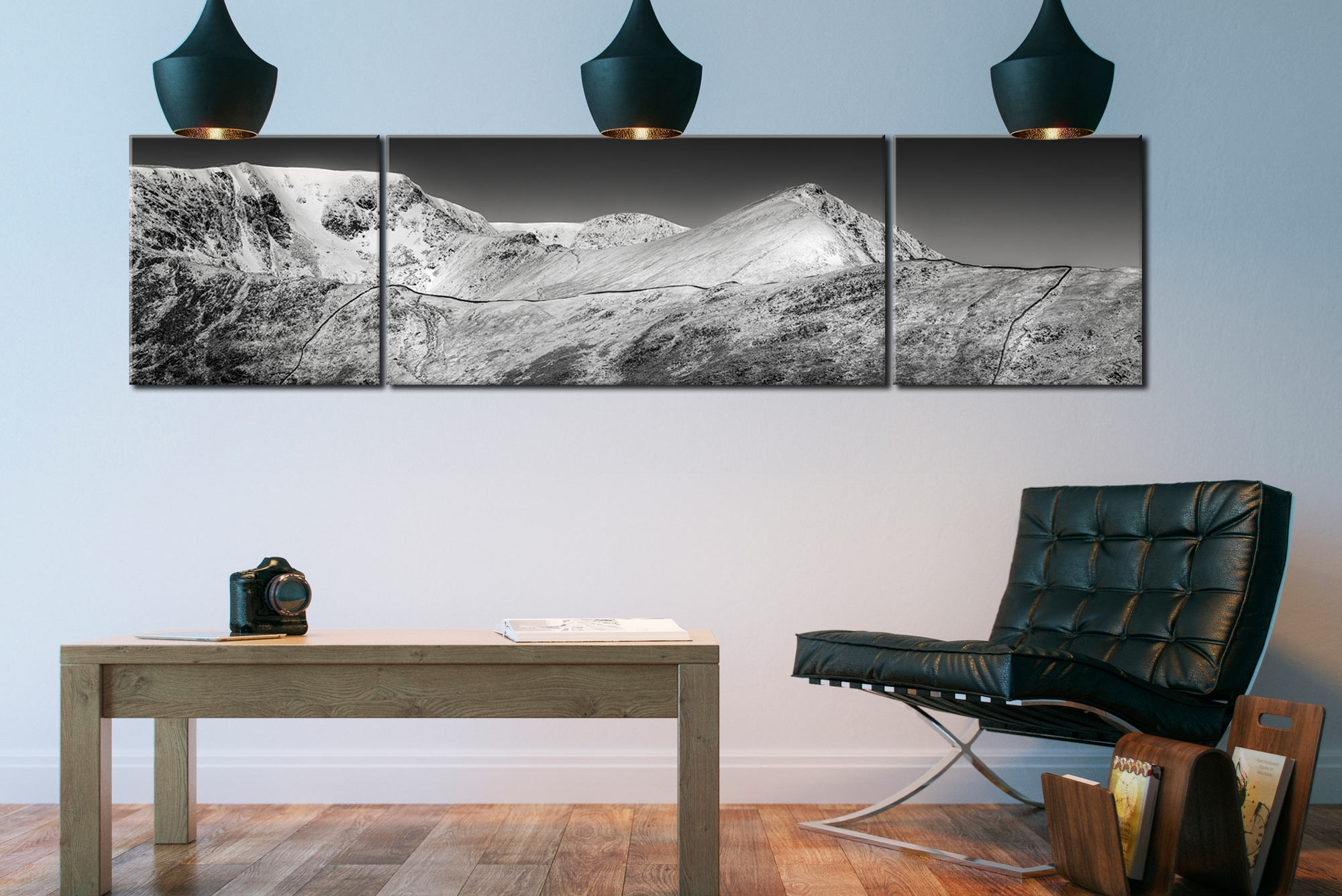 Snow Capped Helvellyn Mountains – Canvas Prints Prints Pertaining To Current Mountains Canvas Wall Art (View 7 of 15)