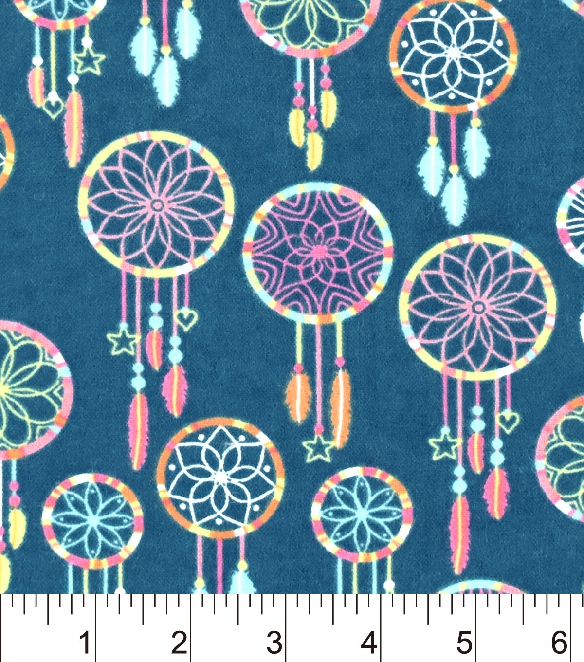 "Snuggle Flannel Fabric 42"" Multi Color Dreamcatcher 