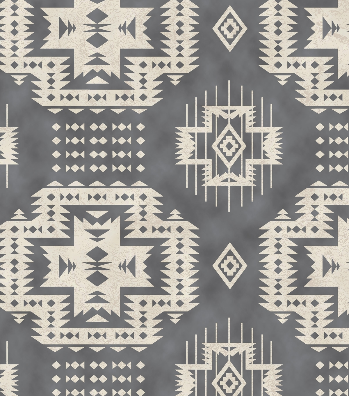 Snuggle Flannel Fabric Grey Aztec | Fabric Finds With Joann Inside Newest Aztec Fabric Wall Art (View 13 of 15)