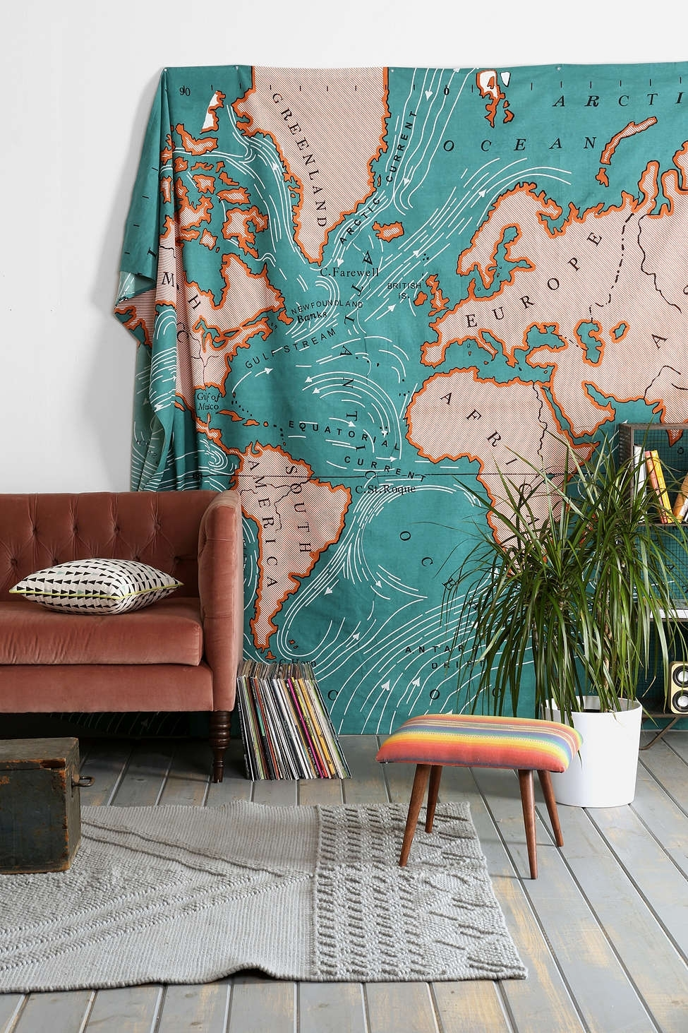Spice Up Your Space: 20 Living Room Wall Decor Ideas Throughout Best And Newest Fabric Wall Art Urban Outfitters (View 2 of 15)